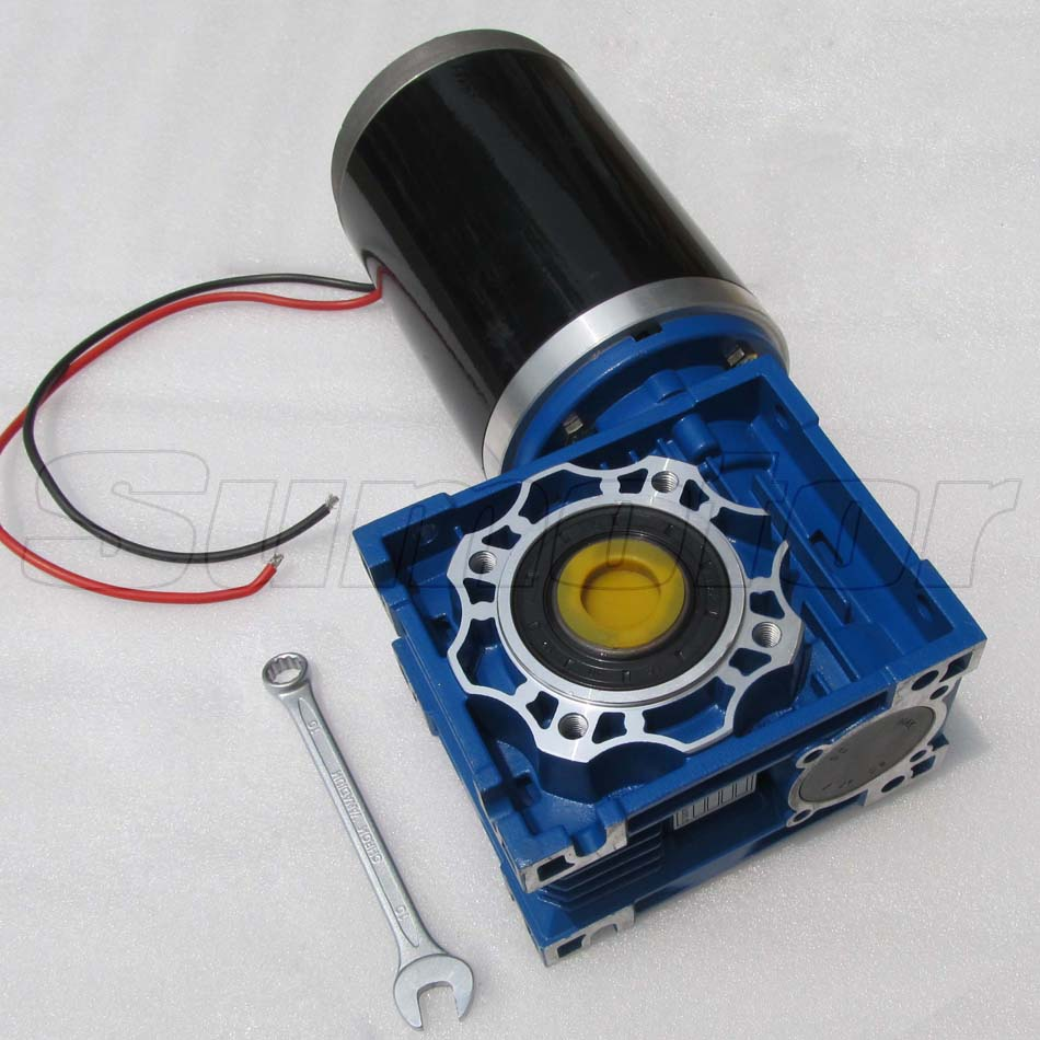 Gw114165 dc 24v 15a worm gear box reducer electric motor for Power supply for 24v dc motor