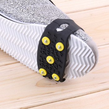 Durable Anti Slip Snow Ice Climbing Spikes Grips Crampon Cleats 5-Stud Shoes Cover