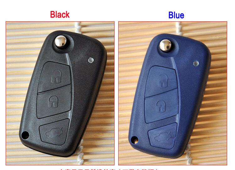 20PCS/lot For 3 Buttons Flip Remote Key Shell Case For Fiat Punto Ducato Stilo Panda Idea Doblo Bravo Keyless Fob Key Cover(China (Mainland))
