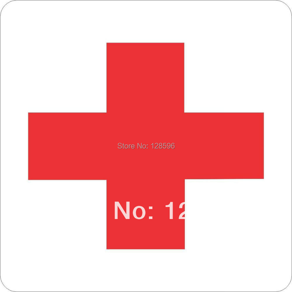 10cm x 10cm RED MEDICAL CROSS DECAL STICKER VINYL CAR WINDOW LAPTOP BUMPER funny JDM and all the smooth surface(China (Mainland))