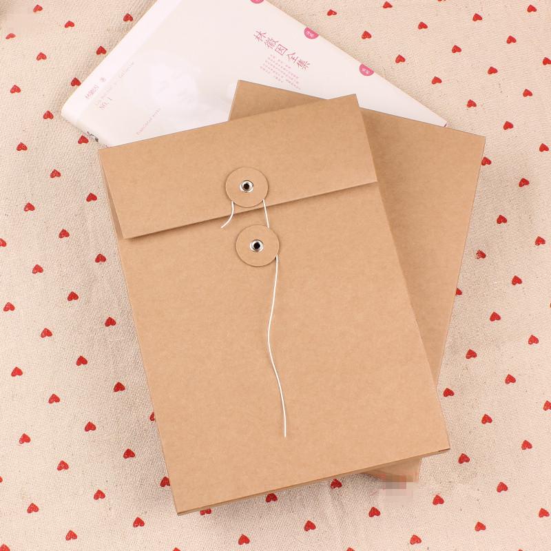 DHL 16*22+2.5cm 60Pcs/ Lot Wholesale Kraft Paper File Box Document Pocket Card Letter Paper Envelopes Office Supply Filing Boxes<br><br>Aliexpress