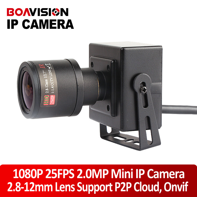 HD 1080P Mini IP Camera 2MP ONVIF 2.8-12mm Manual 4x Zoom Varifocal Lens P2P Plug Play CCTV Camera Realtime 25/30fps