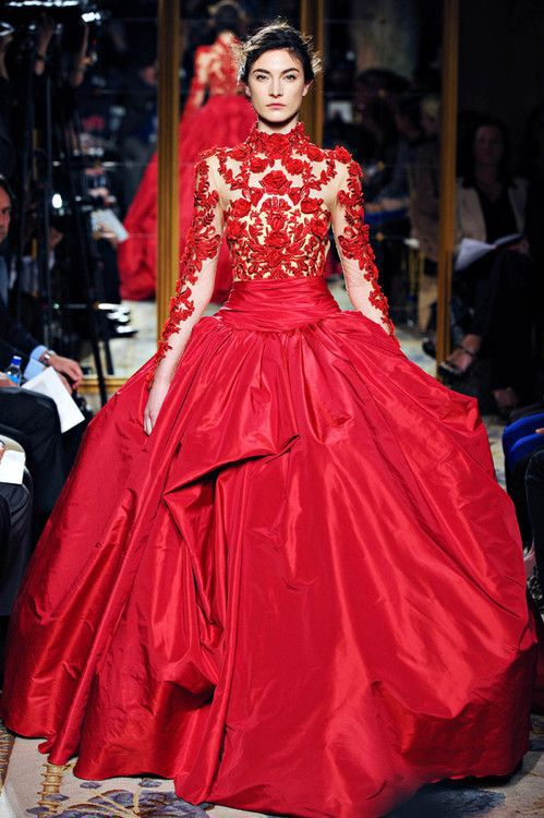2015 New Red Long Sleeve Gorgeous Applique Floor Length Evening Dress Custom Made Size 2-4-6-8-10-12-14-16-18-20+++ - NewDeve Wedding Factory store