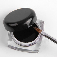 3 pcs.2014 Fashion Special Hot Sale Black Waterproof Eye Liner Eyeliner Gel Makeup Cosmetic + Brush Makeup