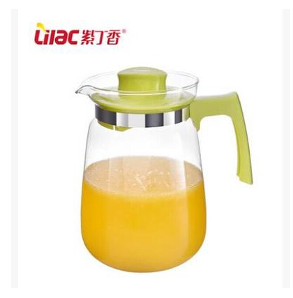1500ml lilac heat resistant glass kettle pitcher cold water jug juice pot large bulk teapot hot - Heat proof pitcher ...