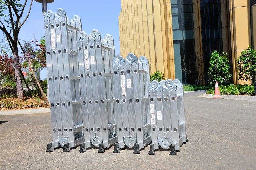4*5 steps aluminum multipurpose step samll hinge ladder, 5.7m Folding used step ladder for sale(China (Mainland))