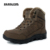 Tamaño 46 hombres zapatos de invierno cálido felpa Botas de piel caminata exterior Botas de nieve del tobillo Botas de plataforma Masculina negro bota Casual cuero