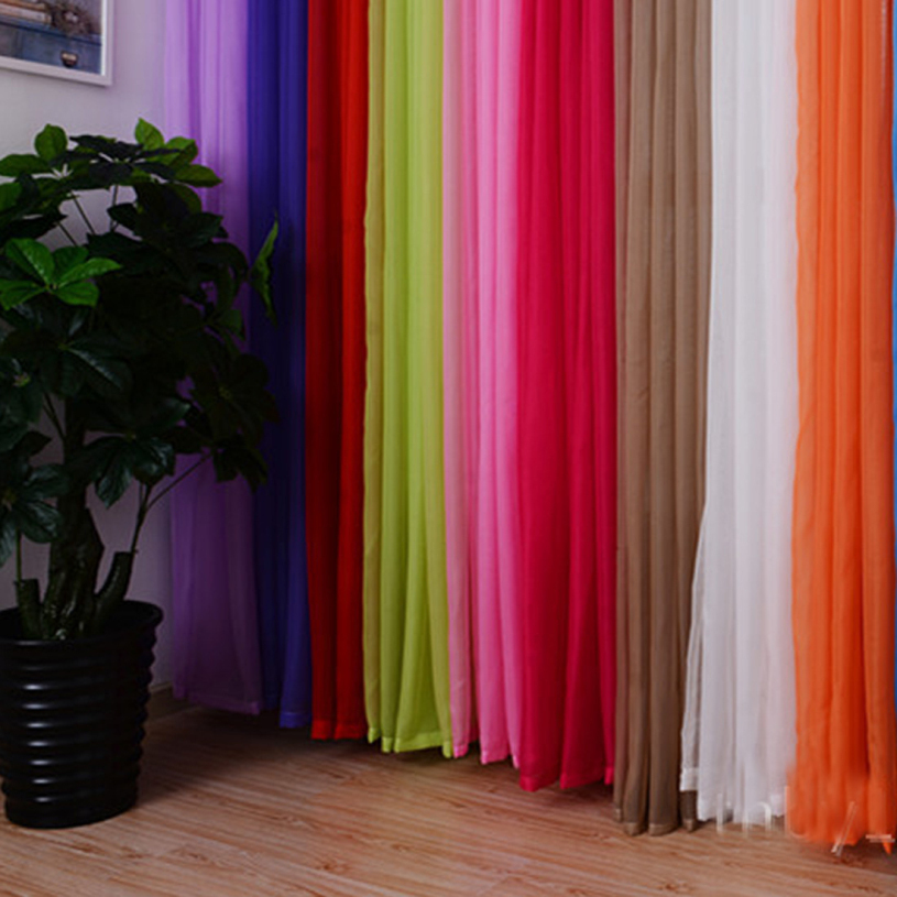 Brand new 2015  Window Curtains hot sale Solid Color For living Room Bedroom Curtains Window Home Decor Free Shipping(China (Mainland))