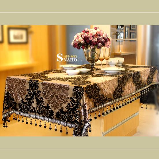 Imperial Palace ] [ Ailebeila velvet tablecloth / table linen tablecloth / table Boosey Tablecloth /(China (Mainland))