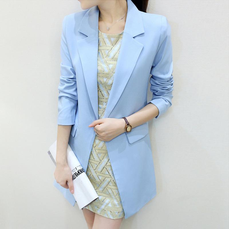 Свободного покроя женщины длинная костюм белый пиджак terno feminino blaser осень зима приталенный блейзеры куртки bleiser 3xl