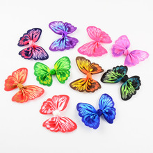 Buy 100pcs/lot 2.4 Inch Printed Butterfly Ribbon Hair Bow Without Clips DIY girls Hair Accessories 10 Color U Pick HDJ103 for $22.88 in AliExpress store