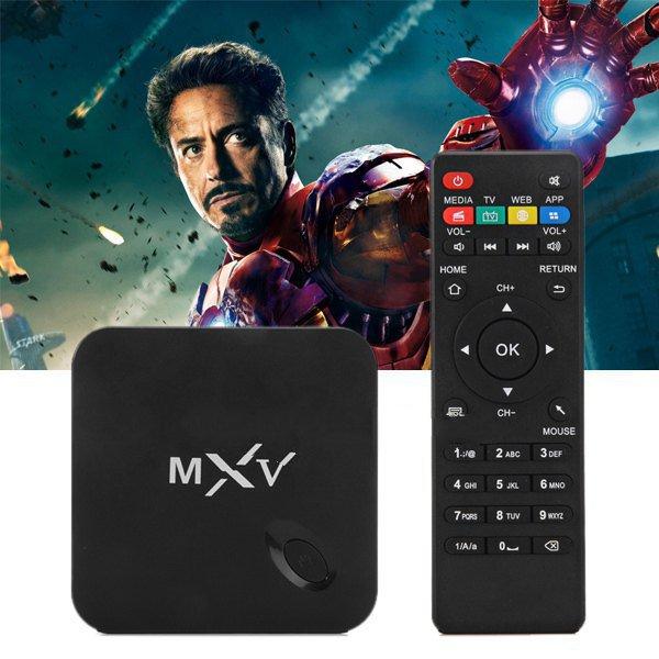MXV android TV box quad-core Amlogic S805 Mali 1 gb RAM 450 8 gb ROM XBMC wireless bluetooth media player is loaded(China (Mainland))