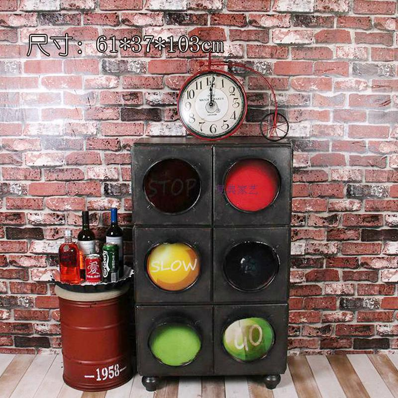 Vintage American country to do the old multi-bucket cabinet creative traffic lights cabinet drawer storage cabinets lockers bar(China (Mainland))