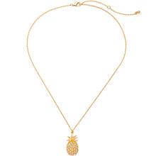 Kiss me chique flamingo abacaxi akee cristal pingente colar simples moda feminina jóias acessórios(China)