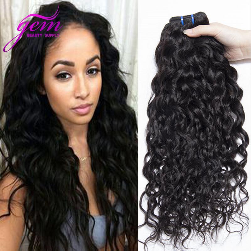 Cheap Mario Hair Mink Brazilian Water Wave Virgin Hair Brazilian Wet Wavy Human Hair Ocean Weave 4pcs Lisa Hair Company Rosa GEM(China (Mainland))