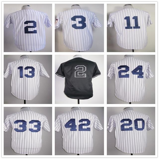 Derek Jeter Jersey Alex Rodriguez Jersey Mariano Rivera Robinson Cano New York Baseball Jerseys(China (Mainland))