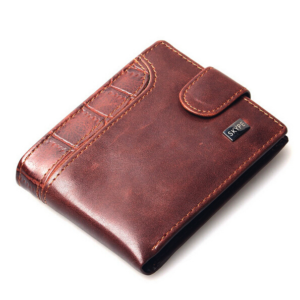 Гаджет  Promotion Casual Wallets For Men New Design Genuine Leather Top Purse Men Wallet With Coin Bag Wholesale Free shipping None Камера и Сумки