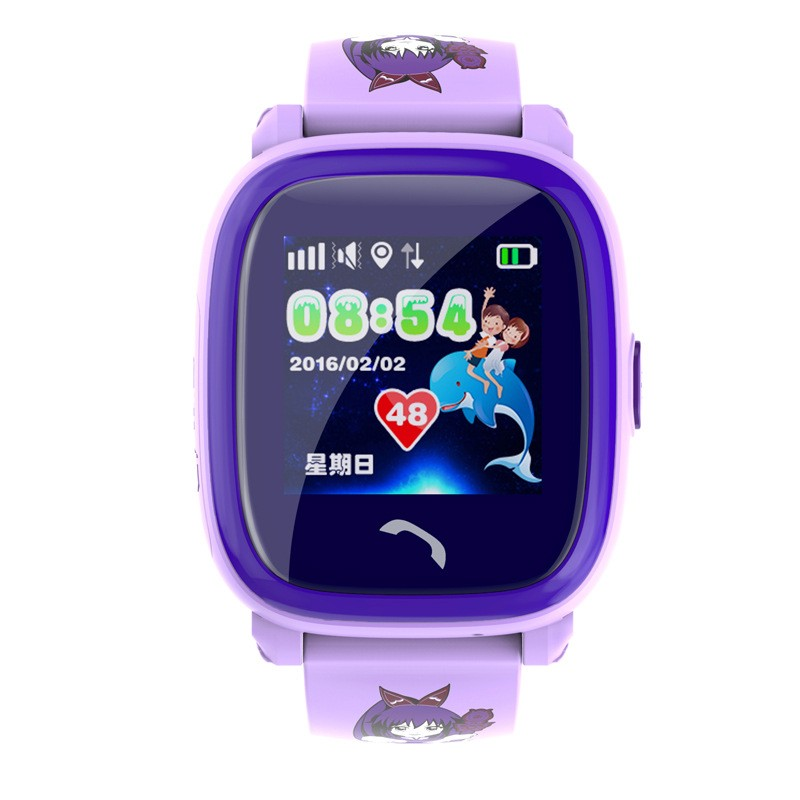 image for Waterproof DF25 PK Q100 Children GPS Swim Touch Phone Smart Watch SOS