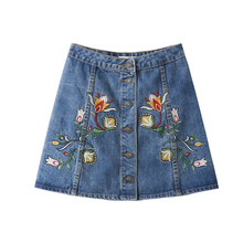Buy iSHINE 2017 new jeans denim shorts pants cotton casual pattern Embroidery Mini skirts sexy female summer waist blue embroidery for $16.99 in AliExpress store