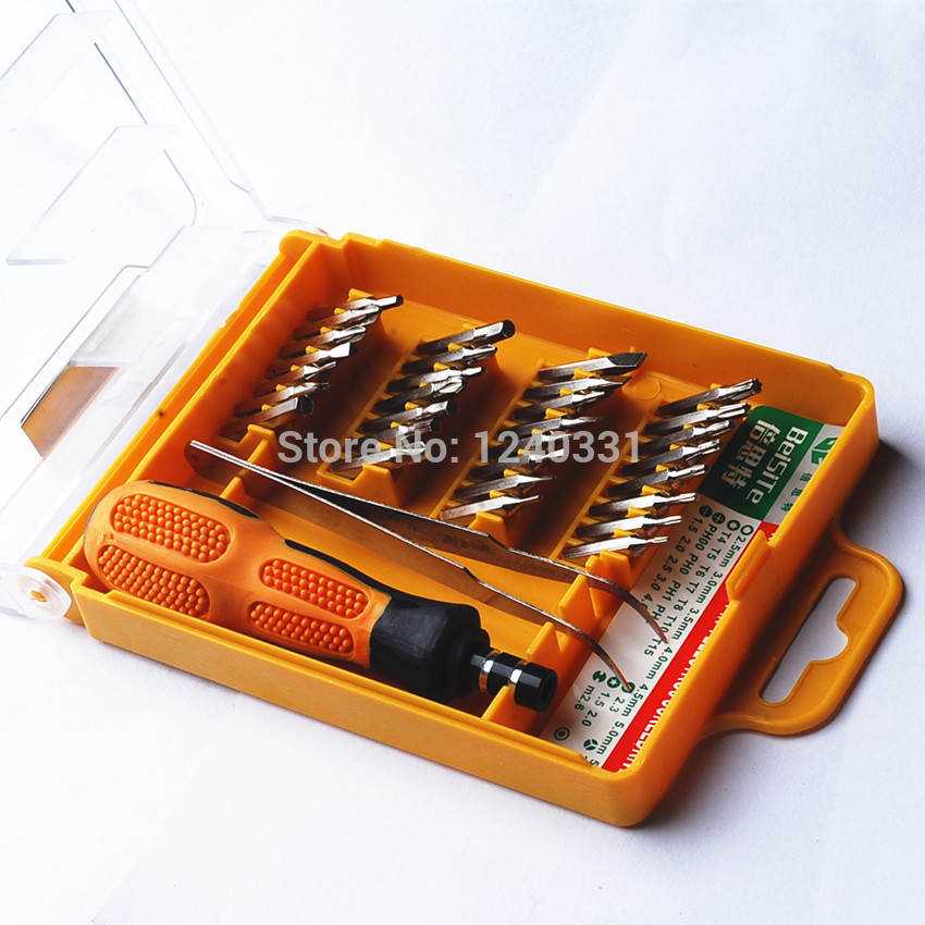 32 in 1 set Micro Pocket Precision Screwdriver Kit Magnetic Screwdriver cell phone tool repair box(China (Mainland))