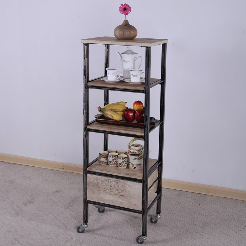 The new American Iron wood floor racks to do the old antique pulley movable storage shelves can be customized(China (Mainland))