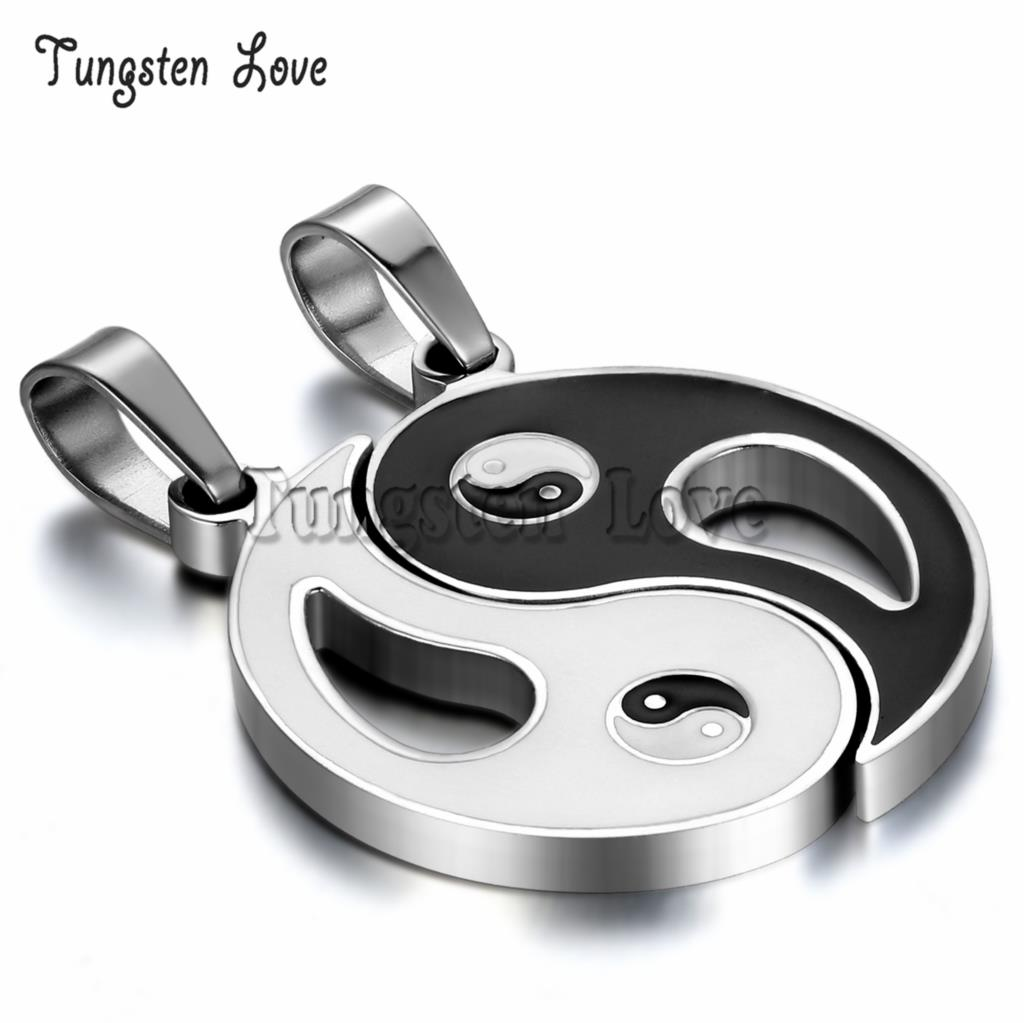 New Chinese Mystical Yin Yang Pendant Necklace stainless steel necklaces Bagua pendant For Men Women New Fashion Couple Necklace(China (Mainland))