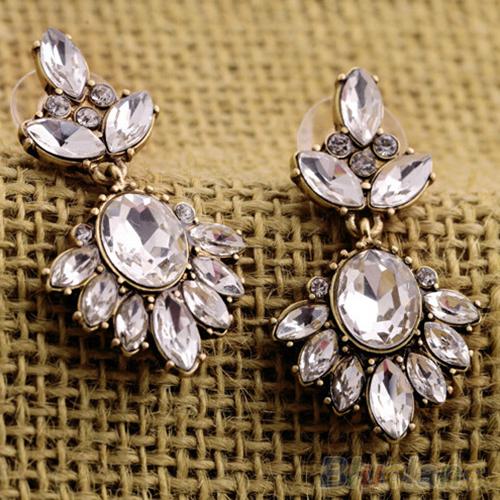 Vintage Women Earrings   Crystal Insert Earrings Rhinestone  Ear Studs 2MQA<br><br>Aliexpress