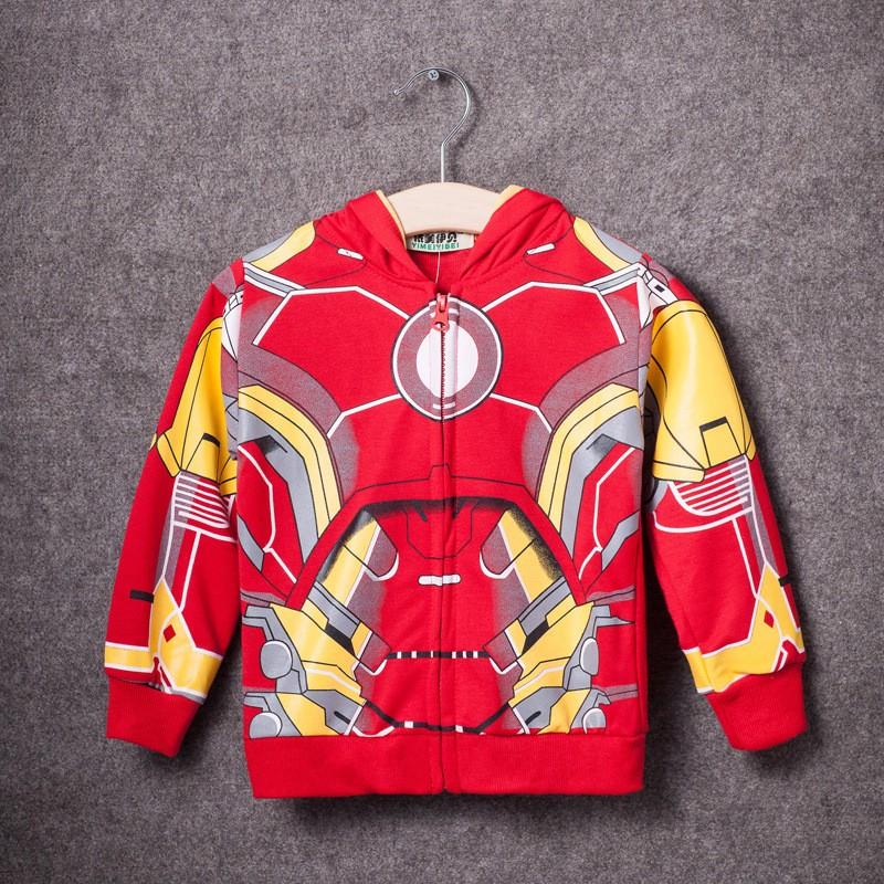Retail 2015 Children Boys Outerwear Clothing Coats Spiderman Jacket Boy Hoodies Spider-man Coat Baby Kids Sweatshirts Fashion