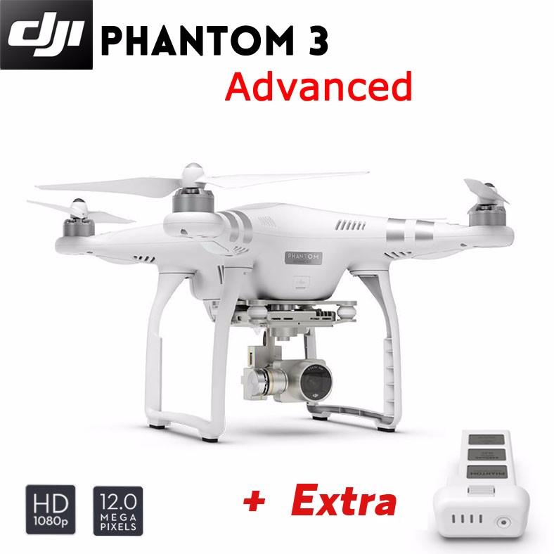 DJI Phantom 3 Advanced Quadcopter Drone 1080p HD Video 3-Axis Gimbal + Extra Battery