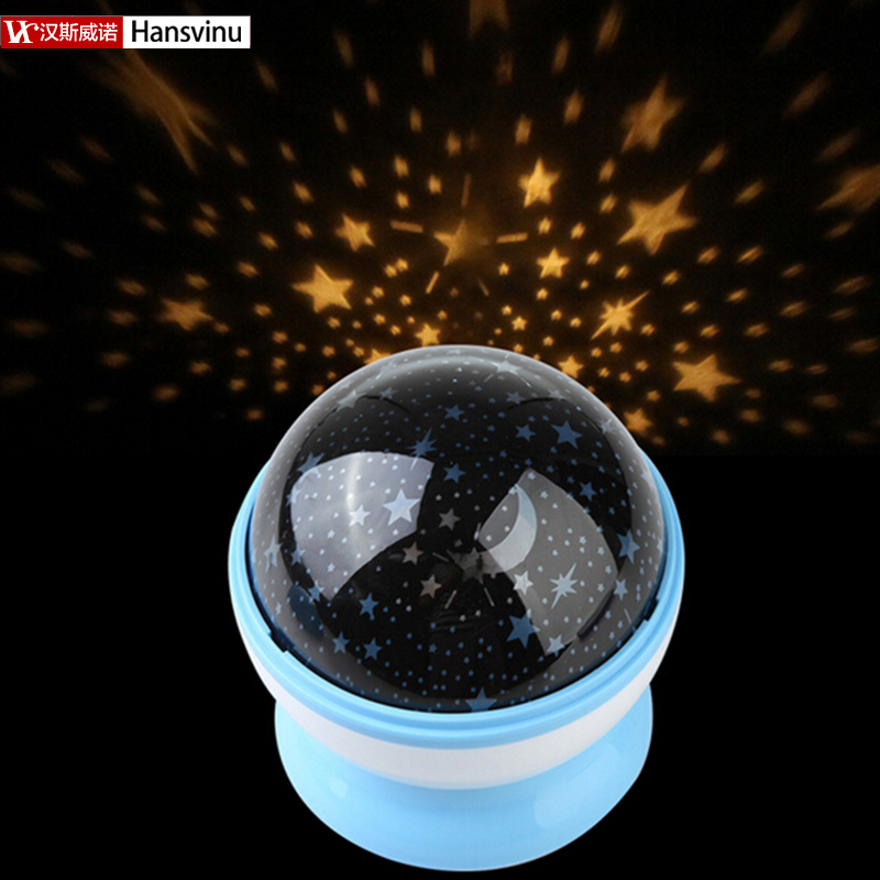 New Romantic Room Novelty Night Light Projector Lamp Rotary Flashing Starry Star Moon Sky Star Projector Kids Children Baby(China (Mainland))