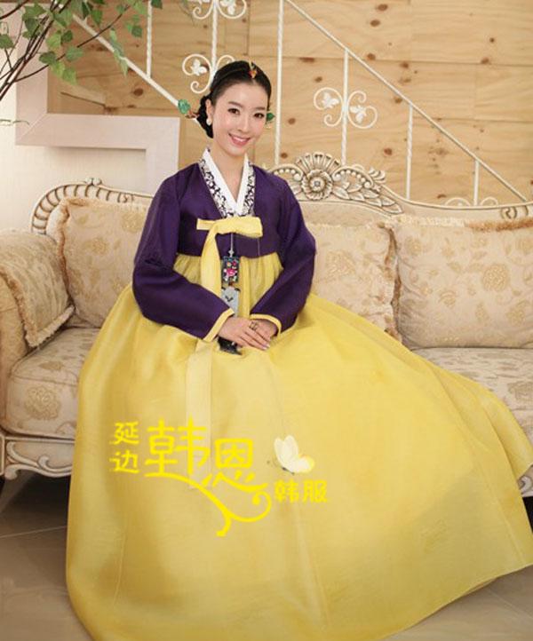 Vestido tradicional coreano por encargo Hanbok coreano mujeres Hanbok vestido Hanbok coreano novia de la boda traje nacional coreano(China (Mainland))