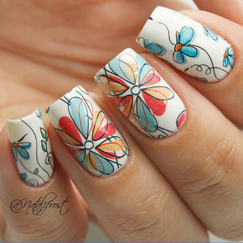 2 Patterns/Sheet Cute Flower Nail Art Water Decals Transfer Sticker BORN PRETTY BP-W17 #20608