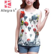 Women Casual Pullover Blouse Scoop Neck Sleeveless White Chiffon Tunic Tank Shirt Tops XS/S/M/L/XL Discount 50 Discount 50(China (Mainland))