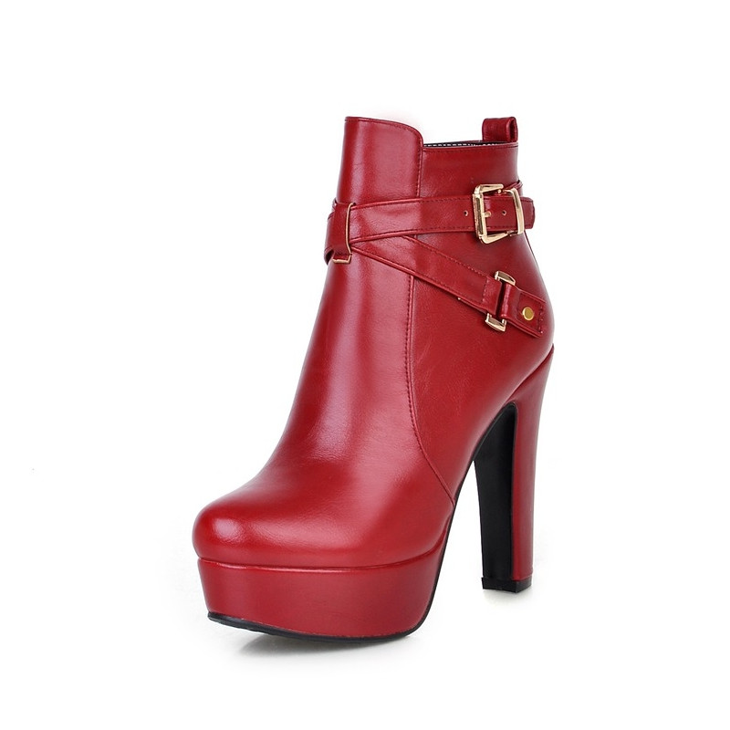 spike high heels shoes plus size 34 43 solid ankle
