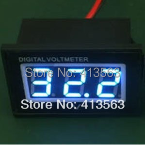 Hot sale!Wholesale volt meter Waterproof Dust-proof Shockproof Blue LED Voltage meter Voltmeter DC 4.5-30V Panel meter#00010(China (Mainland))