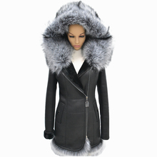 Factory direct supplier of wholesale custom Winter womens 2015 fur one piece fox fur fashion slim with a hood Suede Jacket(China (Mainland))