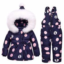 2019 nieuwe Winter kinderen kleding sets meisjes Warme parka donsjack voor baby meisje kleding kinderen jas sneeuw wear kinderen pak(China)