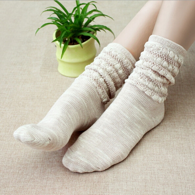 Горячая распродажа зимние сгущать хлопок носок японский мода куча носков впитывает ...