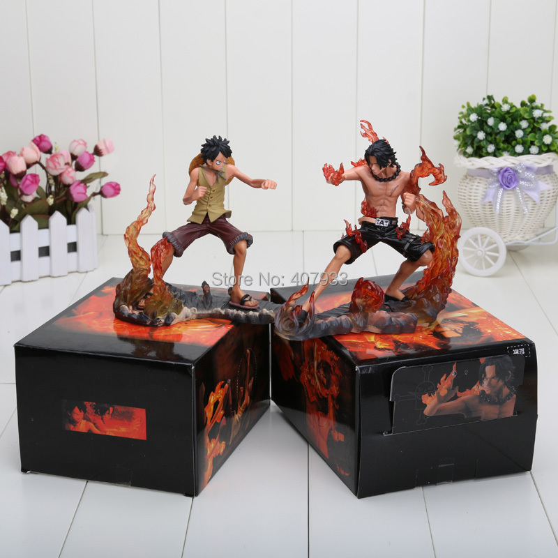 One Piece 1set 14cm/5.5inch (1set=2pcs) Japanese Anime Figures One Piece DX Brotherhood figures Luffy+Ace Figures PVC(China (Mainland))