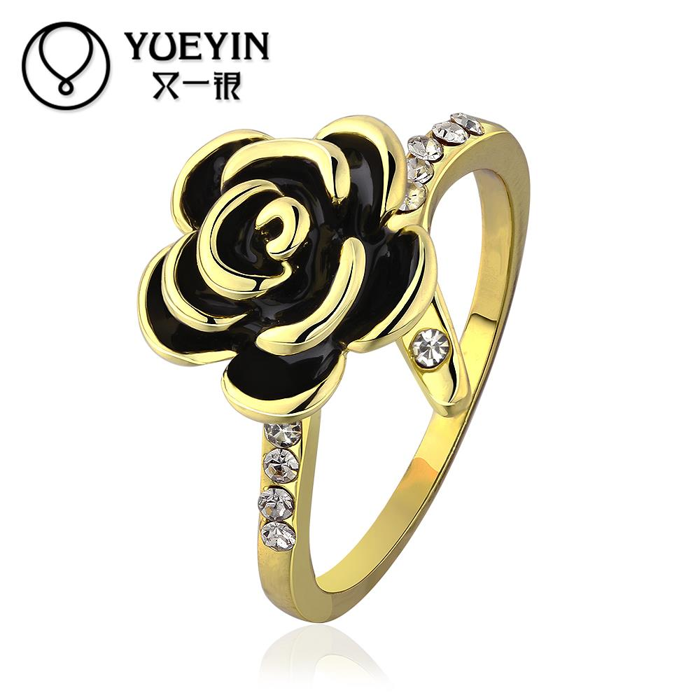 R636 Wholesale Cheap Price High Quality New Fashion Jewelry 18K Gold Plated Women Ring 5 piece/lot(China (Mainland))