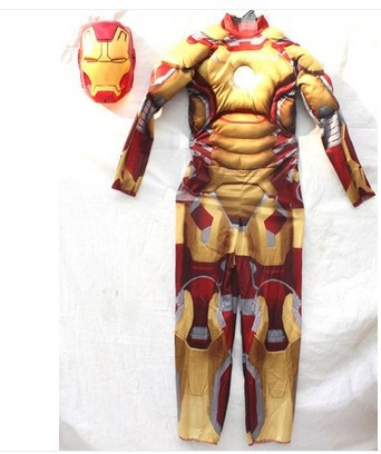 Iron Man costume onesie for kids boy ironman superhero cosplay halloween party carnival costume kids costumes gifts for children(China (Mainland))