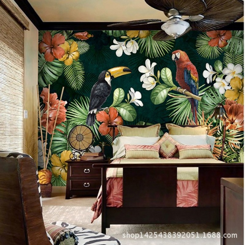 Acquista all 39 ingrosso online amazon wallpaper da grossisti for American tropical mural
