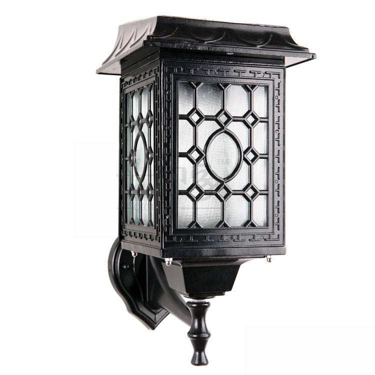 Corner Wall Light Outdoor : LED Corner Outdoor Wall Lamps Chinese Style Solar 6W Pure White LED Solar Energy Saving High ...