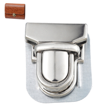 10Sets Silver Tone Case Bag Accessories Purse Snap Clasps Closure Lock Duck tongue lock Closure Catch Tuck 3.3cm(China (Mainland))