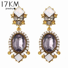 Fashion Geometric Earrings vintage gothic designer wedding crystal Purple Crystal earrings for women Wholesale bijoux(China (Mainland))