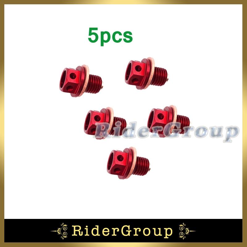 5pcs Engine Oil Magnetic Drain Bolt Plug For Chinese 50cc 90 110 125cc 140cc 150cc 160cc Lifan YX Zongshen Loncin Pit Dirt Bike(China (Mainland))