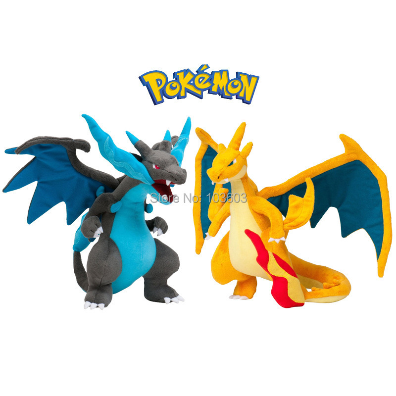 23cm Pokemon Charizard Fire Dragon Flying Dragon Mega Cartoon Video Movies PP Cotton Stuffed Animals Plush