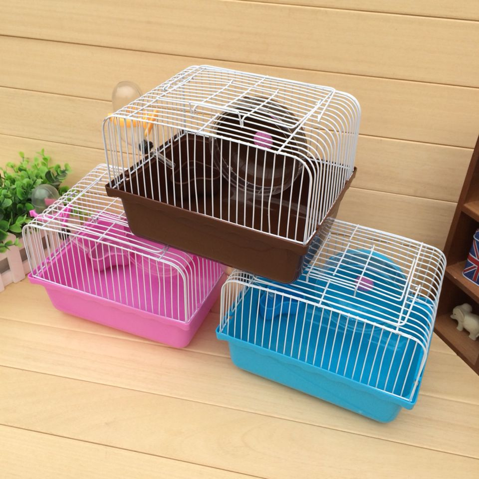 Little Pet Wire Cage Hamster Rabbit Guinea Pig House with Feeder Water and Runway Small Kennel(China (Mainland))