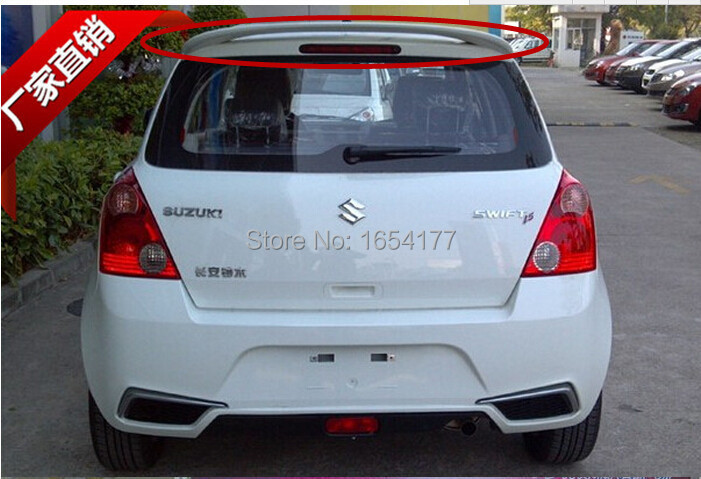 Фотография High Quality!Gray Primer Car Rear Trunk Spoiler Wing Spoilers Rear Diffuser(1 PCS) For Suzuki Swift 2005-2014 AT Shipping