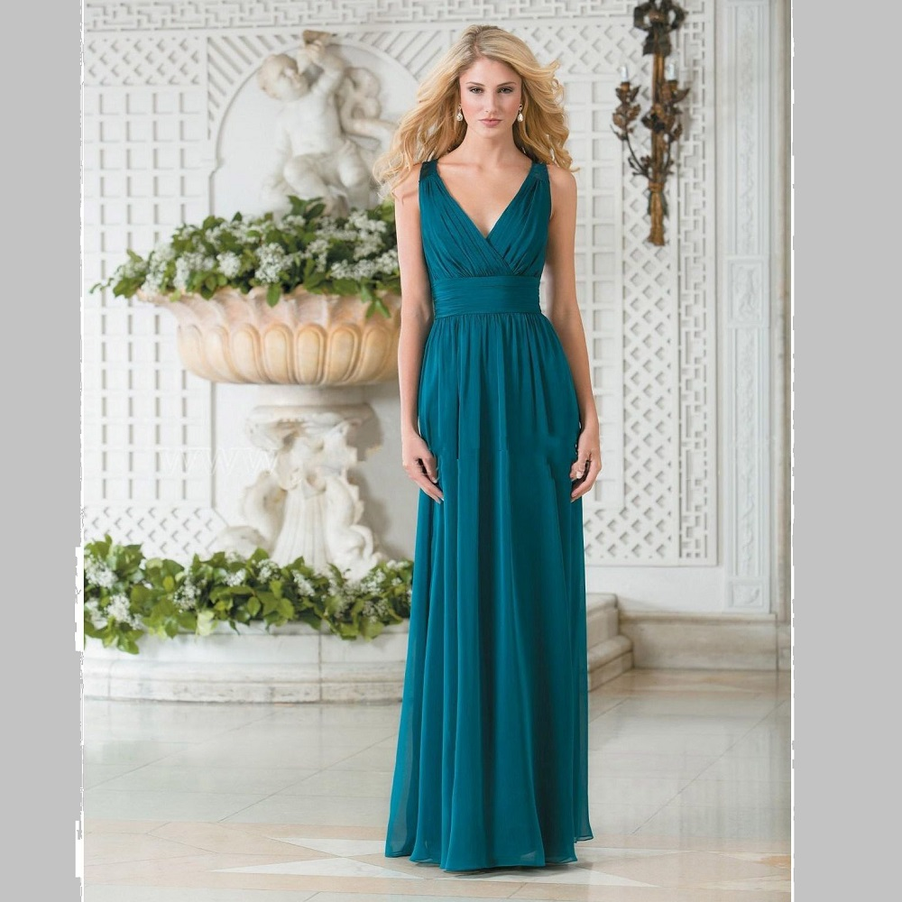 2017 new design teal green bridesmaid dresses lace long for Formal long dresses for weddings